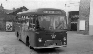 WKG 32, Albion Nimbus at Bridgend bus station about to depart on the local Priory Avenue route.