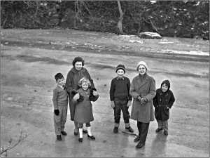 On the frozen River Ogmore - January 1963